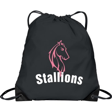 Stallions Horse Bag Port & Company Drawstring Cinch Bag
