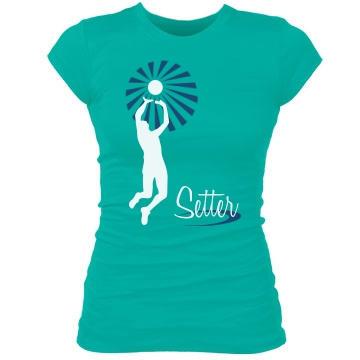 Star Setter Volleyball Junior Fit Bella Sheer Longer Length Rib Tee