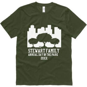 Stewart Family Reunion Unisex Canvas Jersey Te