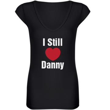 Still Love Danny Junior Fit Bella Sheer Longer Length Rib V-Neck Tee