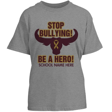 Stop Bullying Colors Tee Youth Basic Port & Company Essential Tee