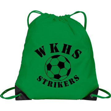 Strikers Soccer Gear Port & Company Drawstring Cinch Bag
