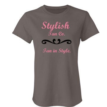 Stylish Tanning Tee Junior Fit Bella Favorite Tee
