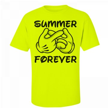 Summer Infinity Unisex Gildan Ultra Cotton Safety Neon Crew Neck Tee