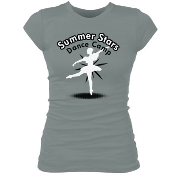 Summer Stars Dance Camp Junior Fit Bella Sheer Longer Length Rib Tee
