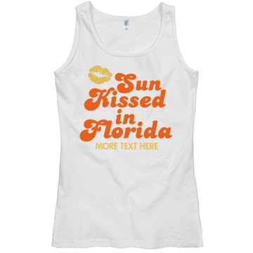 Sun Kissed Misses Relaxed Fit Basic Gildan Softstyle Tank Top