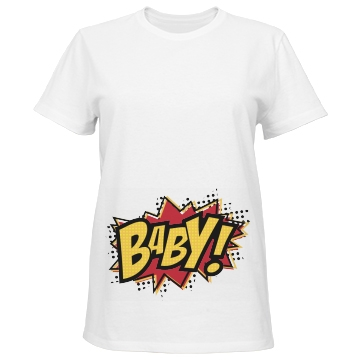 Super Baby Maternity Misses Relaxed Fit Port & Company Basic Tee
