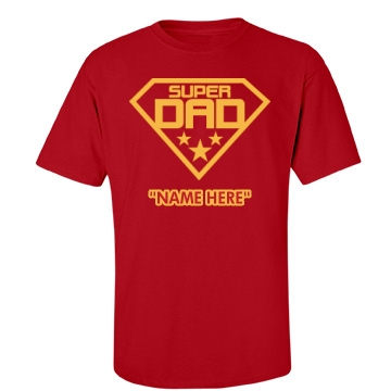 Super Dad Father's Day Unisex Gildan Heavy Cotton Crew Neck Tee