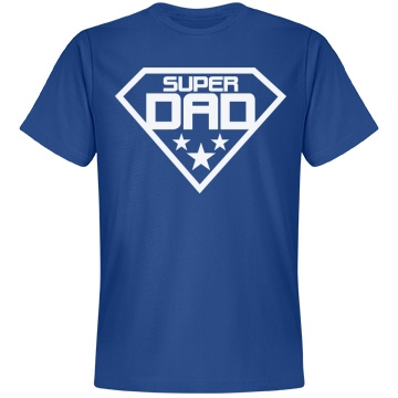 Super Dad on Father's Day Unisex Anvil Lightweight Fashion Tee