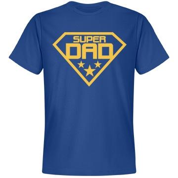 Super Dad Super Shirt Unisex Anvil Lightweight Fashion Tee