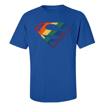 Super Gay Logo Unisex Gildan Heavy Cotton Crew Neck Tee
