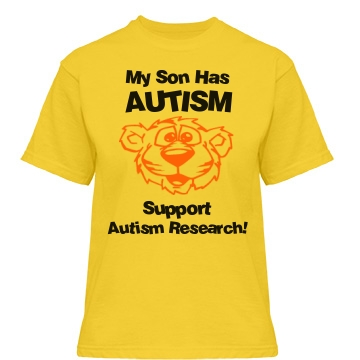 Support Autism Research Misses Relaxed Fit Gildan Heavy Cotton Tee