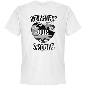 Support Camo Heart Tee
