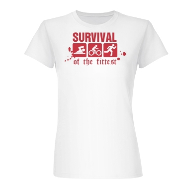 Survival Of The Fittest Junior Fit Basic Bella Favorite Tee