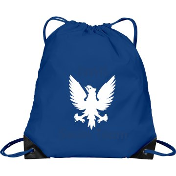 Swim Team Bird Mascot Port & Company Drawstring Cinch Bag