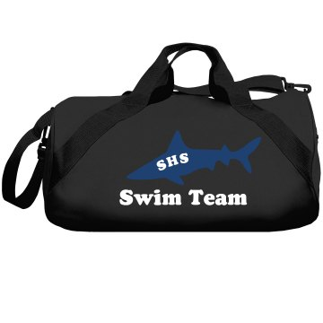 Swim Team Shark Mascot Liberty Bags Barrel Duffel Bag