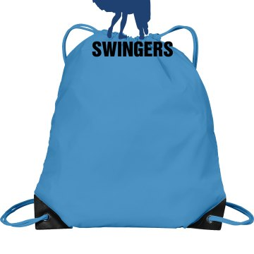 Swingers Dance Bag Port & Company Drawstring Cinch Bag