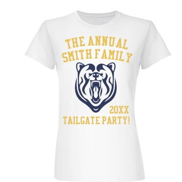 Tailgate Party! Junior Fit Basic Bella Favorite Tee