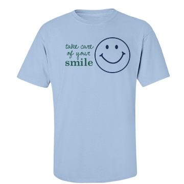Take Care of Your Smile Unisex Basic Port & Company Essential Tee