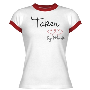 Taken Junior Fit Bella 1x1 Rib Ringer Tee