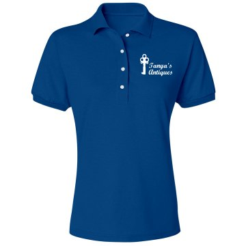 Tanya's Antiques Misses Relaxed Fit Jerzees Spotshield Polo Shirt