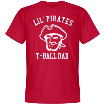T-Ball Dad Unisex Anvil Lightweight Fashion Tee