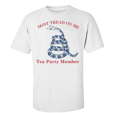 Tea Party Don't Tread Unisex Basic Port & Company Essential Tee