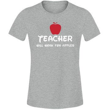 Teachers Work for Apples Misses Relaxed Fit Anvil Lightweight Fashion Tee