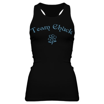Team Chuck Junior Fit Bella Sheer Longer Length Rib Racerback Tank Top