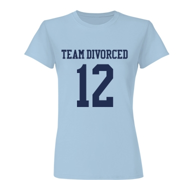 Team Divorced w/Back Junior Fit Basic Bella Favorite Tee