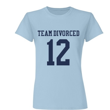 Team Divorced w/Back Junior Fit Basic Tultex Fine Jersey Tee