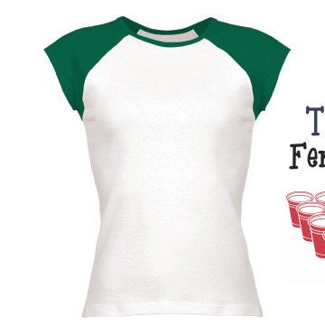 Team Fem-Cup Jersey Junior Fit Bella 1x1 Rib Cap Sleeve Raglan Tee