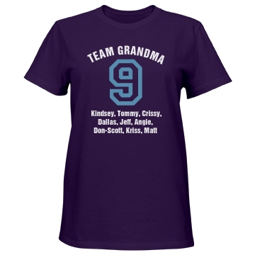 Team Grandma Misses Relaxed Fit Port & Company Essential Tee