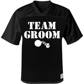 Team Groom w/ Back Unisex Augusta Replica Football Jersey