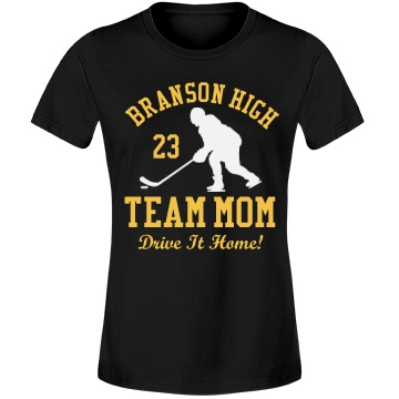 Team Hockey Mom Misses Relaxed Fit Anvil Lightweight Fashion Tee