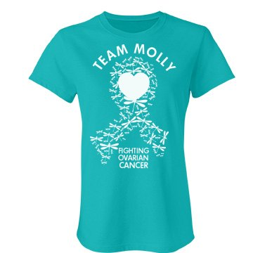Team Molly Ovarian Cancer Junior Fit Bella Favorite Tee