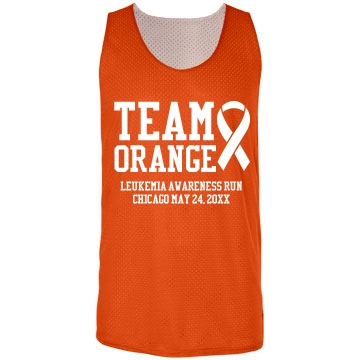 Team Orange Pinnie Badger Sport Mesh Reversible Tank