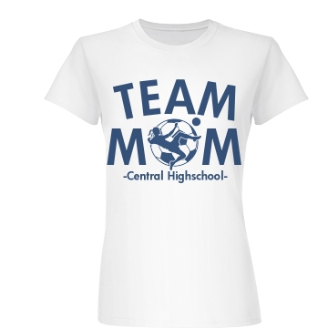 Team Soccer Mom Junior Fit Basic Bella Favorite Tee