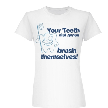 Teeth Don't Brush Junior Fit Basic Bella Favorite Tee