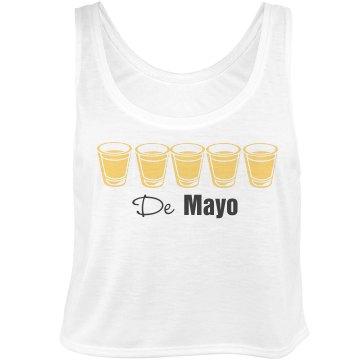Tequila De Mayo Tank Bella Flowy Boxy Lightweight Crop Top Tank Top