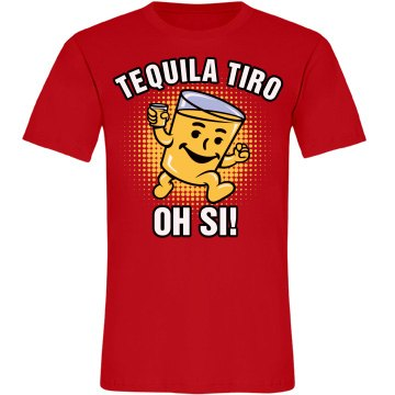 Tequila Shot Oh Yeah! Unisex American Apparel Fine Jersey Tee