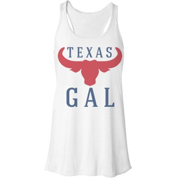 Texas Gal Bella Flowy Lightweight Racerback Tank Top
