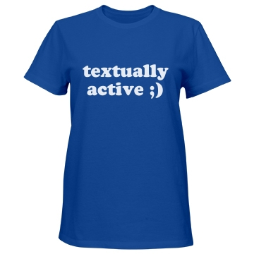 Textually Active Misses Relaxed Fit Port & Company Essential Tee