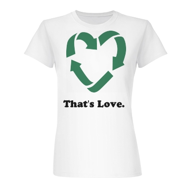 That's Love. Junior Fit Basic Bella Favorite Tee
