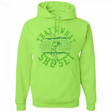 That's What She Set Unisex Jerzees Neon NuBlend Heavyweight Hoodie