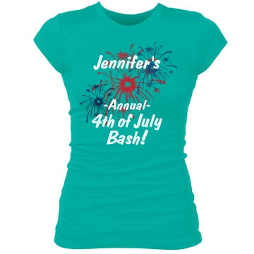 The 4th of July Bash Junior Fit Bella Sheer Longer Length Rib Tee