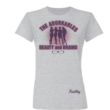 The Adorkables Junior Fit Basic Bella Favorite Tee