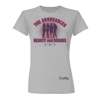 The Adorkables Junior Fit Basic Tultex Fine Jersey Tee