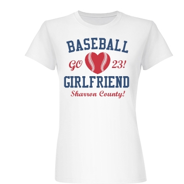 The Baseball Girlfriend Junior Fit Basic Bella Favorite Tee