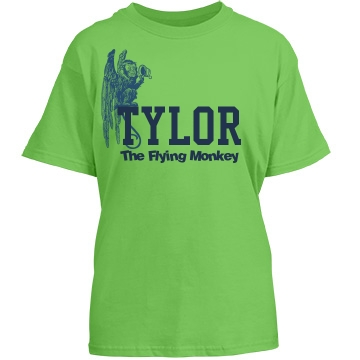 The Flying Monkey Shirt Youth Gildan Heavy Cotton Crew Neck Tee